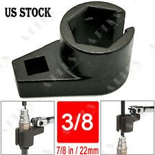 7/8-Inch 22mm Offset Oxygen Sensor Socket Wrench Removal Tool Drive 3/8