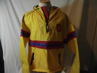 Tommy Hilfiger Mens Size L VTG 90's Yellow Cycling Light Jacket w Spellout EUC