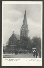 Postcard Plaistow Newham London early view Holy Trinity Church on Barking Road
