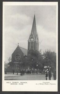 Postcard Plaistow Newham London early view Holy Trinity Church on Barking Road