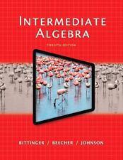 College math paperback textbooks educational books ebay intermediate algebra 12th edition by bittinger beecher and johnson fandeluxe Choice Image