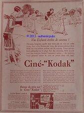 PUBLICITE CINE KODAK CAMERA VOS ENFANTS ETOILES DE CINEMA DE 1928 FRENCH AD PUB