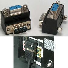 Right Angle/Elbow SVGA/VGA HD/HPDB15pin Male~Female Port Saver cable Adapter