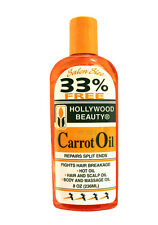 HOLLYWOOD BEAUTY HAIR/SCALP/BODY CARROT OIL (BONUS 33% MORE) 8 OZ.