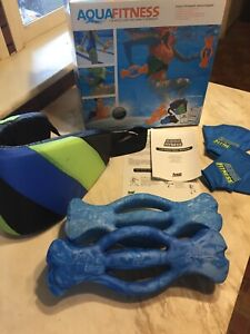 Aqua Fitness Water Exercise Set - 6 Piece Aerobic Belt, Ergobells Pool Workout