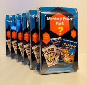 POKEMON Mystery Power Pack - 5 Packs Plus 1 EX, GX, FA, SR - Vintage Packs 1:10!