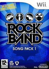 Rock Band Song Pack 1 (RockBand) Nintendo Wii PAL Brand New