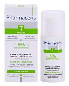 Pharmaceris T Night Cream with 5% Mandelic Acid Anti-acne 50ml Krem Tradzik Noc