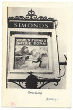 READING The World Turned Upside Down Pub Sign - Vintage Photograph c1960