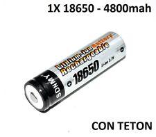 1X PILA RECARGABLE 18650 4800MAH LITIO BATERIA 3,7V LI-ION 4,8A 4.8A bateria