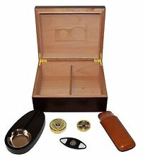 HUMIDOR SET POUR 25 CIGARES CAVE A CIGARES COUPE CIGARES CENDRIER