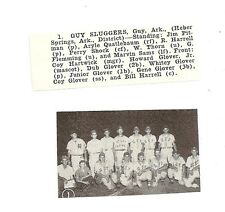 Guy Sluggers Arkansas 1955 Baseball Team Picture