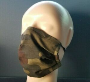 New Camo Camouflage Adult & Kids Pleated Face Masks ~ Elastic Loops & Nose Wire