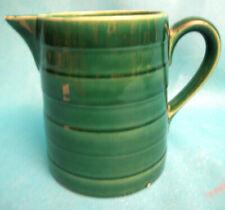 Pitcher Ceramic Enamelled Green