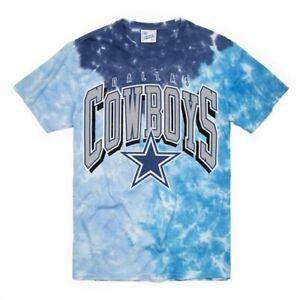 Dallas Cowboys Vintage NFL '47 Brand Sky Blue Tie Dye Men's Size L Tee Shirt New
