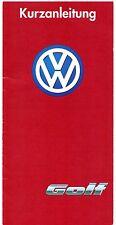VOLKSWAGEN GOLF mk3 Hatchback & VARIANTE 1995-96 GUIDA RAPIDA IN TEDESCO