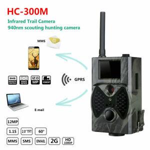 Wildkamera 2G GPRS/MMS/SMS 12MP 940NM HC300M JagdKamera IR LED Jagd Wildtier