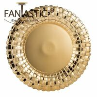Fantastic:)™ Round 13Inch Charger Plate With Shiny Finish ( Braided Pattern )