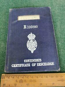 Discharge Book - WF Scott UNION CASTLE LINE 1932/35 Balmoral, Carnarvon Castle