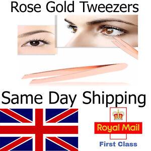 Eyebrow  and Facial Tweezers - Plucking Beauty Slanted Edge Stainless Steel -UK