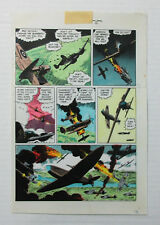 "1986 ""World of Wood"" 3 page 5 Original Eclipse comic book color guide art: Wally"