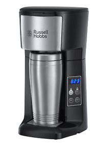 Russell Hobbs Brew & Go Filter Coffee Machine with Digital Timer and Travel Mug
