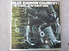 BLUE RIBBON COUNTRY!  2 BIG RECORDS...20 BIG COUNTRY SONGS  2 VINYL RECORDS