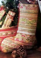 Cross Stitch Christmas COLONIAL HERITAGE STOCKING Faith Pattern Barbara Baatz