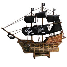 "13"" Corsair Model Ancient Sailing Boat Model Black Pearl Handmade Wooden Ship"