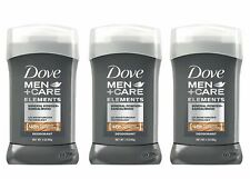 3 X Dove Men+Care Elements Deodorant Stick, Mineral Powder + Sandalwood, 3 Ounce