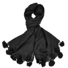 Sciarpe, foulard e scialli da donna neri in pelliccia
