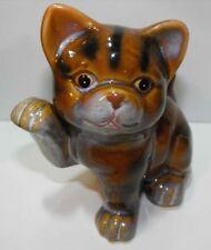 Dekofiguren aus Keramik mit Katzen-Motiv