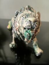 hand painted by musk yai 1 of a kind~ lion toy figurine