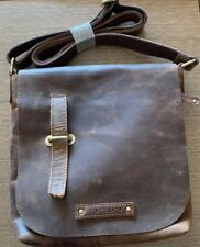 TONY'S BAGS - Leather Satchel 12 inch laptop bag College Bags in Vintage New