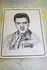 """Elvis Presley with Scarf Sketch Dale Adkins 11"""" x 14"""" Print"""