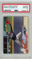 Ronald Acuna Jr Braves 2018 Topps Update Baseball Rookie Card RC #US252 PSA 10