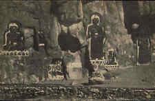 TIBET Felsenbilder Saigong Asien Asia alter Heimatbeleg Postkarten-Format ~1940