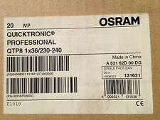 2 X OSRAM Quicktronic Electronic Ballast T8 1 x 36W QTP8 2 Pack