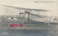 Originale Sanke Karte /   Flugzeug, .Doppeldecker der Luft-Fahrzeug Gesellschaft