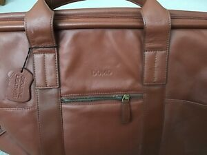 Domo leather weekend holdall