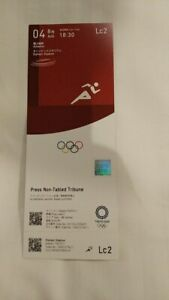Tokyo 2020 Olympic Games Athletics used ticket 04/08/2021