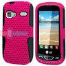 LG Rumor Reflex Xpression Converse LN272 C395 AN272 Pink/Black Hybrid Case Cover