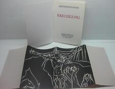 "FRIEDEMANN HAHN original Holzschnitt 1994 ""Kreuzigung"" Einband Buch top"