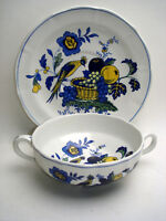 Spode Blue Bird Suppentasse mit Untertasse