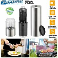 Electric Salt Pepper Grinder Shaker Automatic Stainless Steel  Battery Operated
