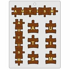 Autism Letters Puzzle Shape Chocolate Candy Mold Fundraiser