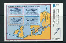 Finland 1988 Finlandia 1st Airmail Flights Douglas Dc-3 Junker souv. sht. Vf Mnh