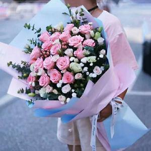 20PCS Duplex Paper Flower Wrapping Paper Packaging Waterproof Florist's Supply