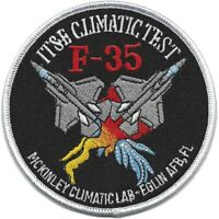 USAF F-35 IT&E Climate Test Patch McKinley Climatic Lab EGLIN AFB FL NEW!!!