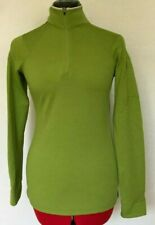 ibex Sweater 1/4 Zip Pullover Knit Stretch Usa Rambouillet Wool Green Size Xs
